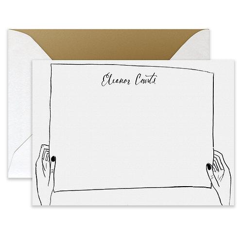 Letterpress Trompe Card
