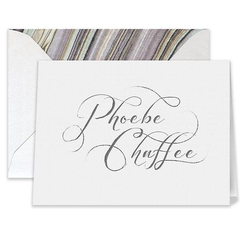 Letterpress Phoebe Card