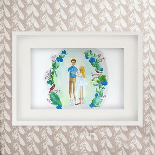 Custom Couples Painted Portrait Print