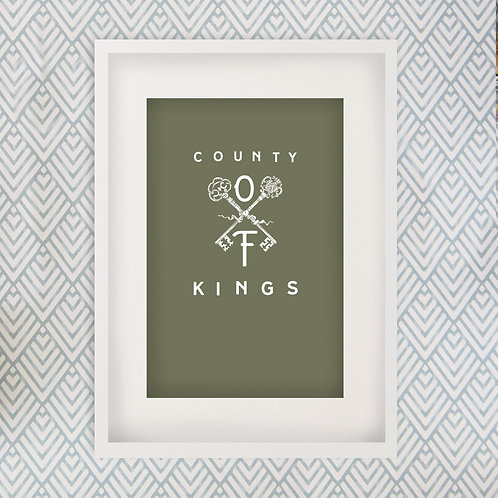 King's County | County of Kings print