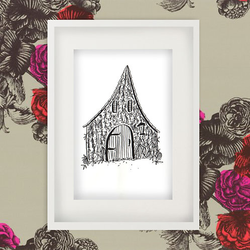 Fairytale Cottage Print