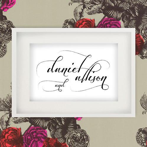 Custom Couples Name Print