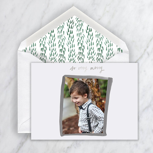 Willeda Painted Border monotone Holiday Note