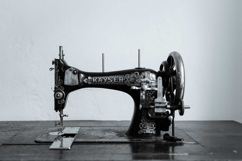 Kayser sewing machine at Fortin Hats studio