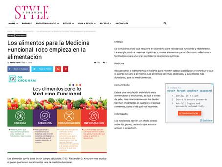 Los alimentos para la Medicina Funcional: Todo empieza en la alimentación