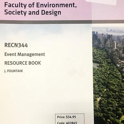 RECN 344 Event Management