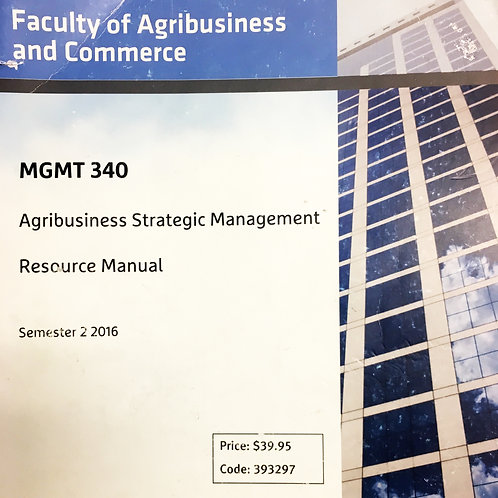 MGMT 340 Resource Manual