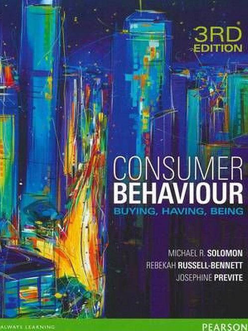 Consumer Behaviour. Buying, Having, Being. 3rd Ed.