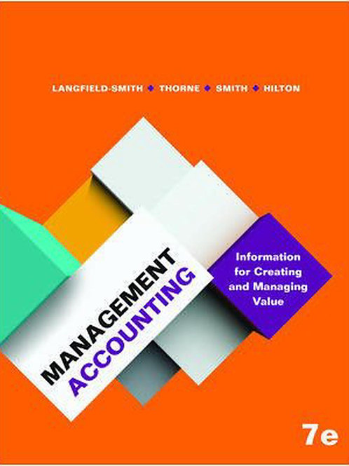 Management Accounting Information for Creating and Managing Value