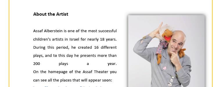 Resume Assaf Alberstain