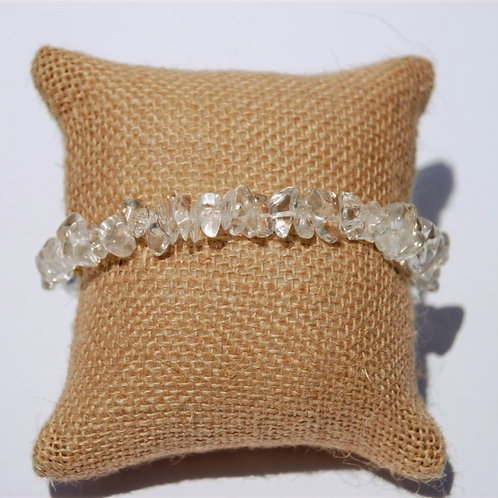 Clear Quartz Nugget Bracelet