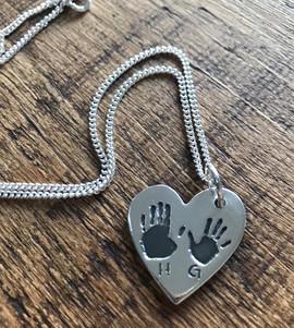 Double print charm necklace