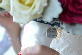 personalised bouquet charm
