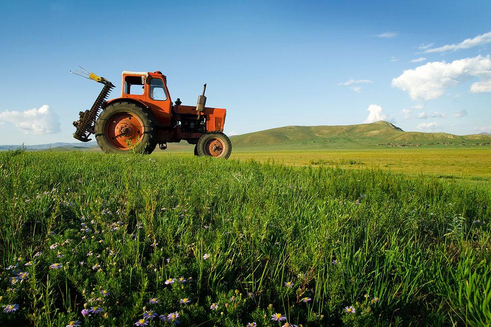 Трактор на работе