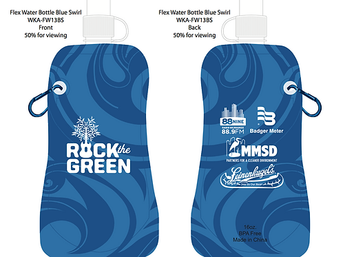 Rock the Green Reusable Water Bottle