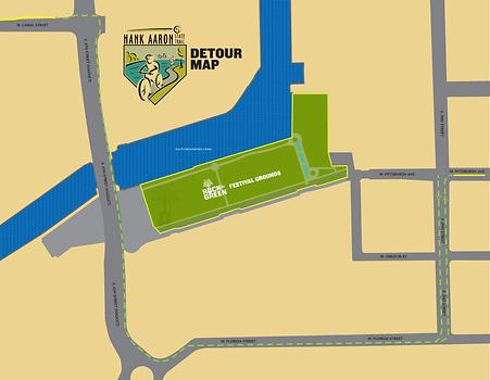 Hank Aaron Detour Map