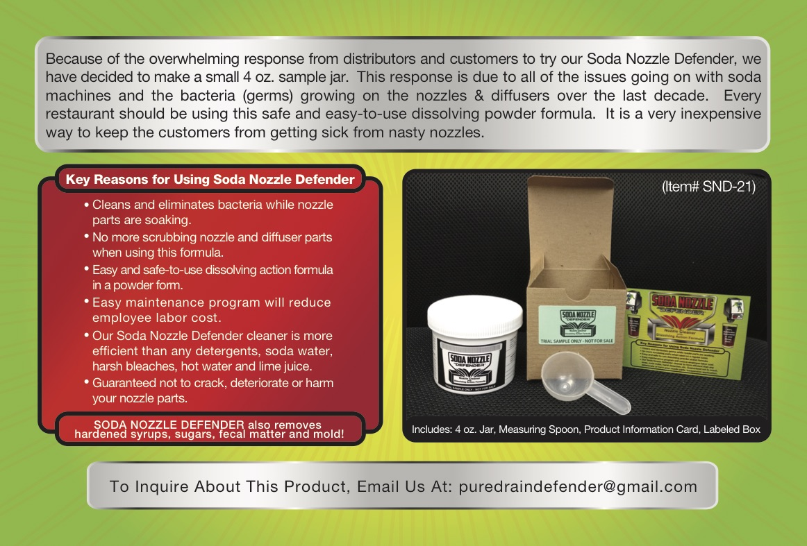 Soda Nozzle Defender (Sample) Brochure