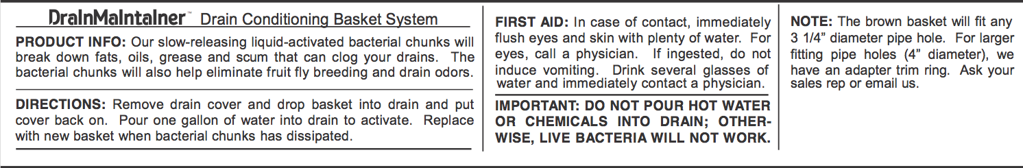 DrainMaintainer Instructions