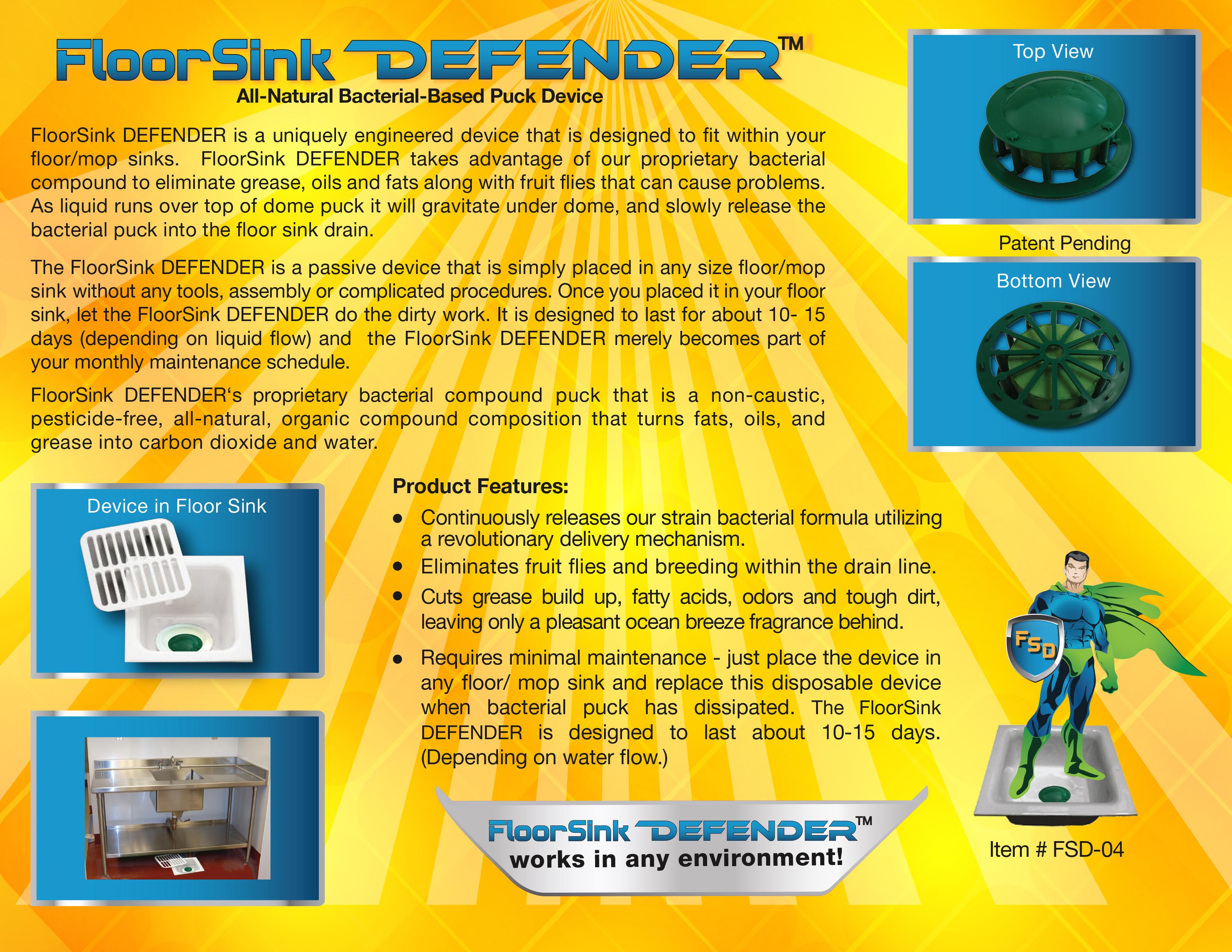 Floorsink Defender