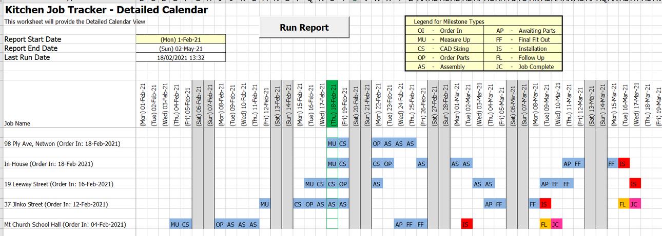 Job Schedule - Detailed-Calendar