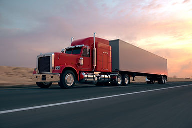 Red Truck on highway - Rate Calculator project for the Transport Industry