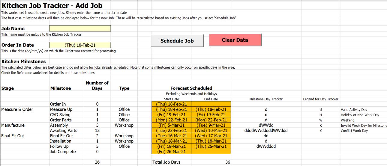 Job Schedule - Add Job