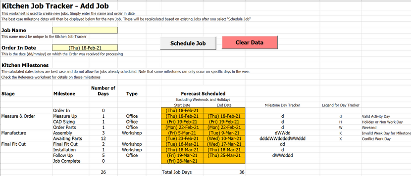 Job Schedule - Add Job