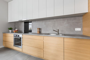 Polished concrete kitchen benchtop - Job Scheduling project for a Kitchen Design company