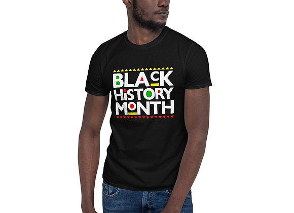 Black History Month Styled Short-Sleeve Dark Unisex T-Shirt
