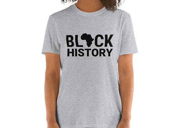 Black History Worded Light Short-Sleeve Unisex T-Shirt