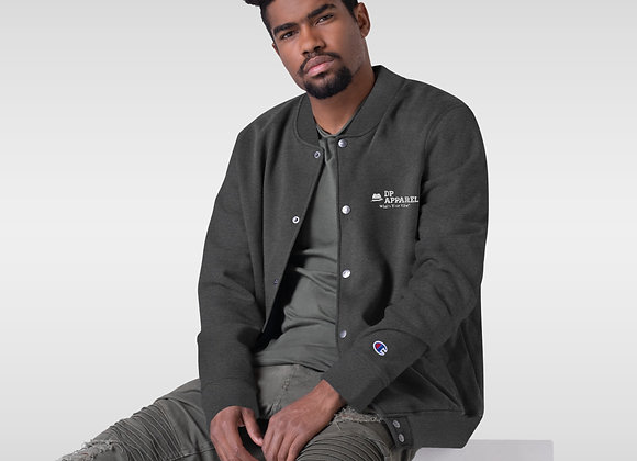 "Embroidered ""DP APPAREL"" Logo Champion Bomber Jacket"
