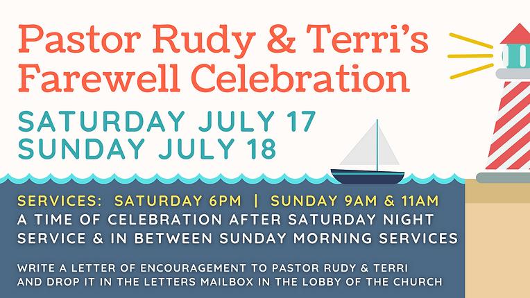 Pastor Rudy & Terri's Farewell Celebrati