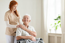 smiling-elderly-man-in-a-wheelchair-and-