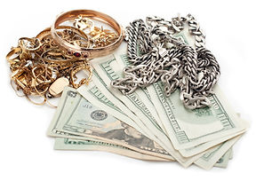 Photo showing money and Gold and silver - Crown Pawn Shop