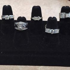 Diamond rings at Crown Pawn Shop