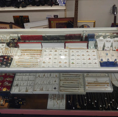 Jewelry Case Display at Crown Pawn Shop