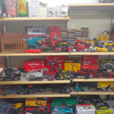 Display of items for sale at Crown Pawn Shop