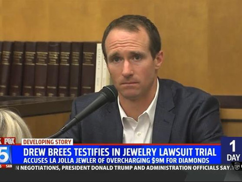 Drew Brees' $6.1M Jewelry Lawsuit Award Increased By A Few Million; Here's Why