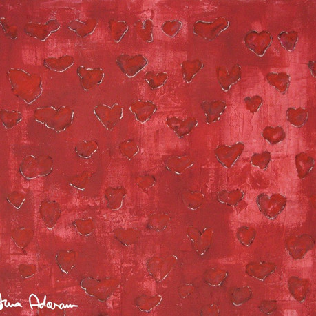 Hearts from the Sea (Red)