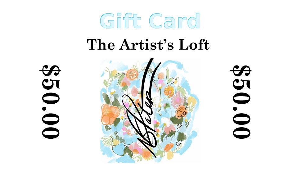 The Artist Loft Gift Card
