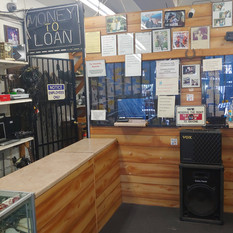 Inside view at Crown Pawn Shop