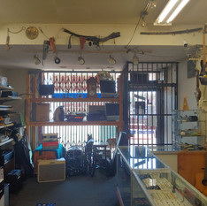 Inside view of Crown Pawn Shop