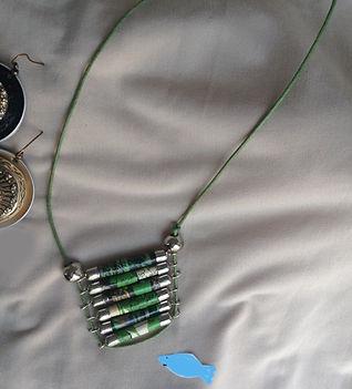 Collana di perle di carta