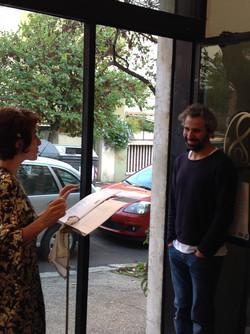 La Poesia con un visitatore