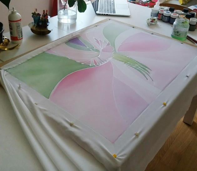 pittura su seta