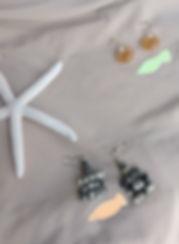 Orecchini di perle di carta