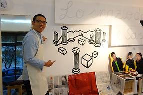 Wall art at Lo Spazio dell'Arte e Satoria
