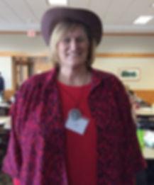 Christian ladies' speaker in cowboy hat