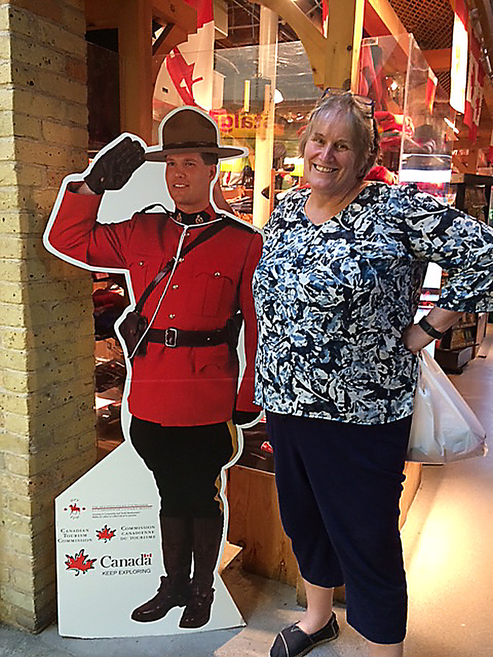 Kim Kyle with a Canadian mountie
