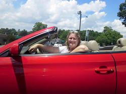 Kim Kyle in her chapel on wheels.